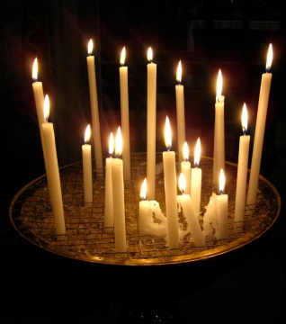 Candles at the Vatican